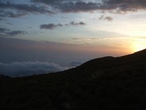 SUN SET AT  MOUNT CAMEROON